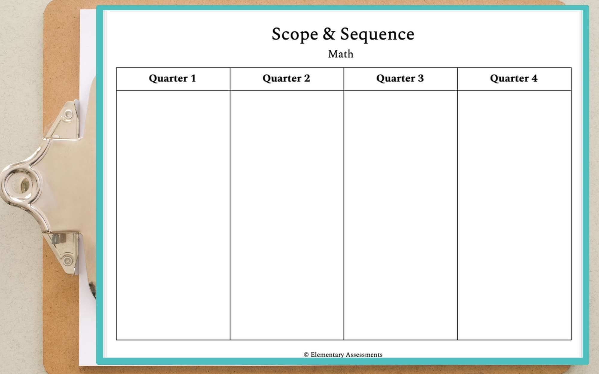 Easy Scope and Sequence Template: [FREE DOWNLOAD] Regarding Blank Curriculum Map Template