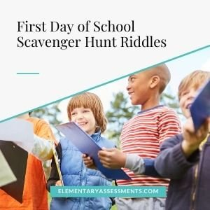 first day of school scavenger hunt riddles