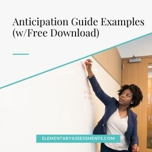 anticipation guides with examples