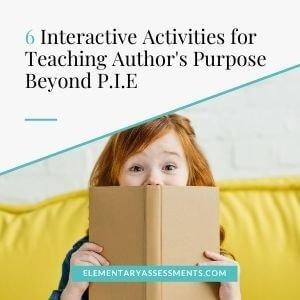 author's purpose beyond pie