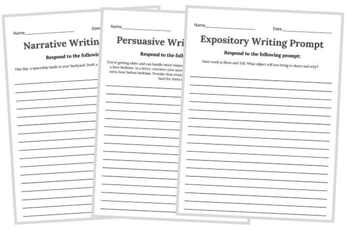 early finishers activities writing prompts