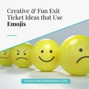 emoji exit ticket ideas