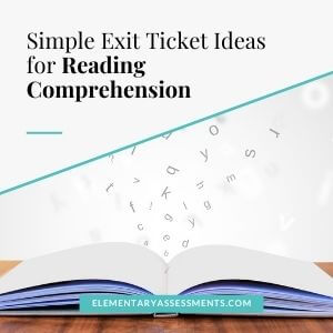 reading exit ticket ideas