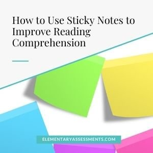 how to use sticky notes for reading comprehension