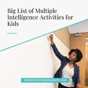 list of multiple intelligence theory activities for classroom elementary kids