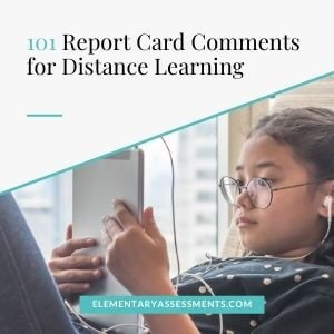 distance learning report card comments