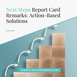 next steps report card comments