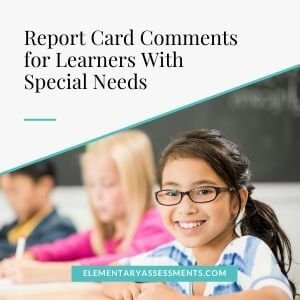 report card comments special needs education